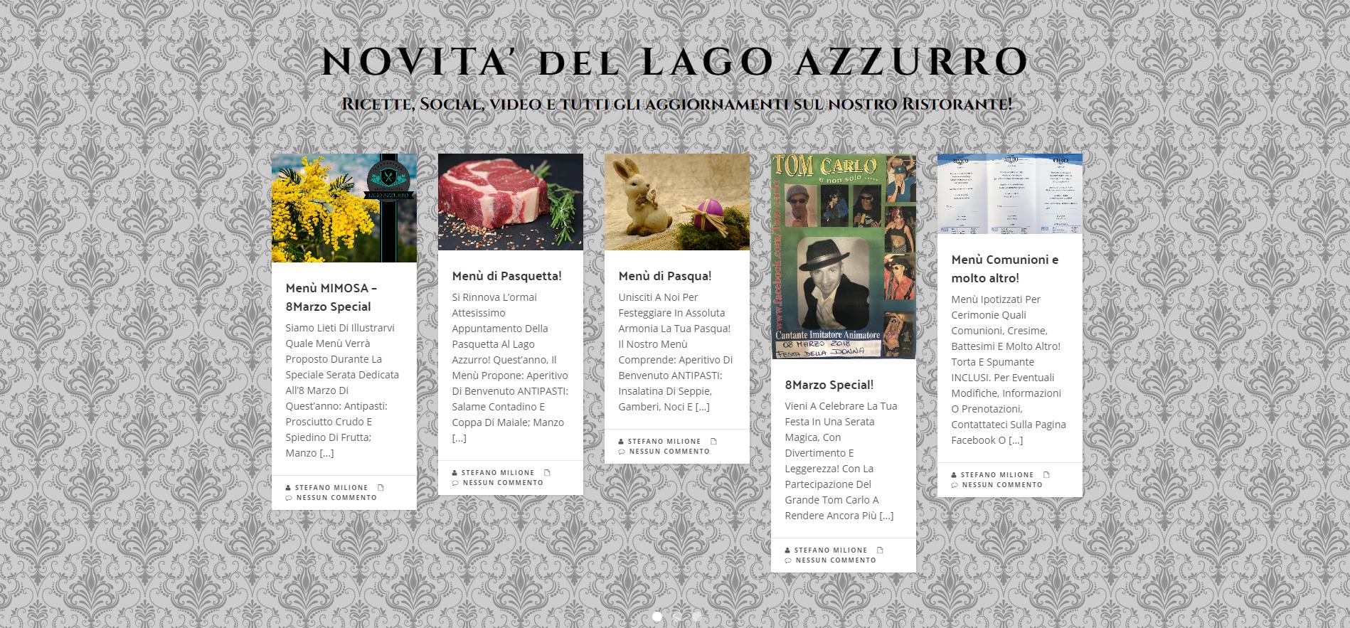 Lago Azzurro Matrimonio : Le nostre attività ristorante lago azzurro
